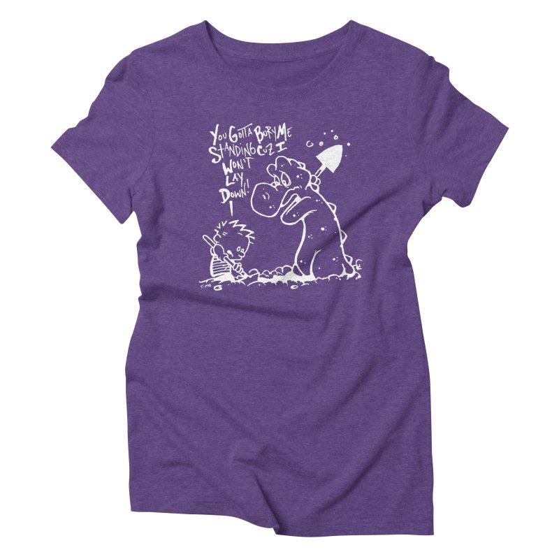 Bury Me Standing - Invert  Women's Triblend T-Shirt by tmoney's Artist Shop