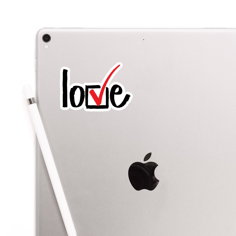 Love.Check. Accessories Sticker by tMonk Ink
