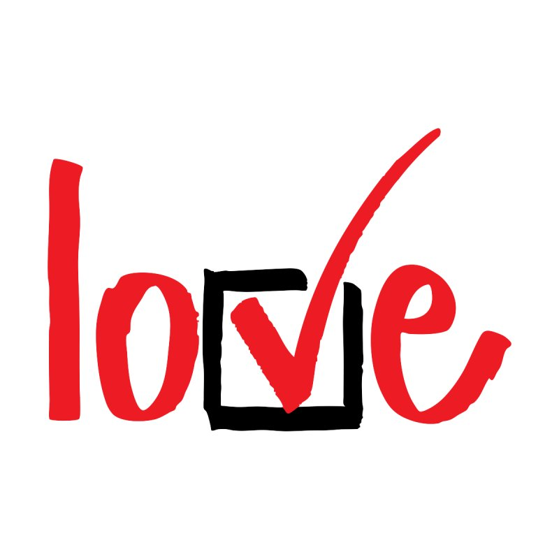 Love.Check. (Red) Accessories Sticker by tMonk Ink
