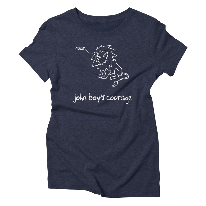 JBC Classic Lion in Women's Triblend T-Shirt Navy by TODD SARVIES BAND APPAREL