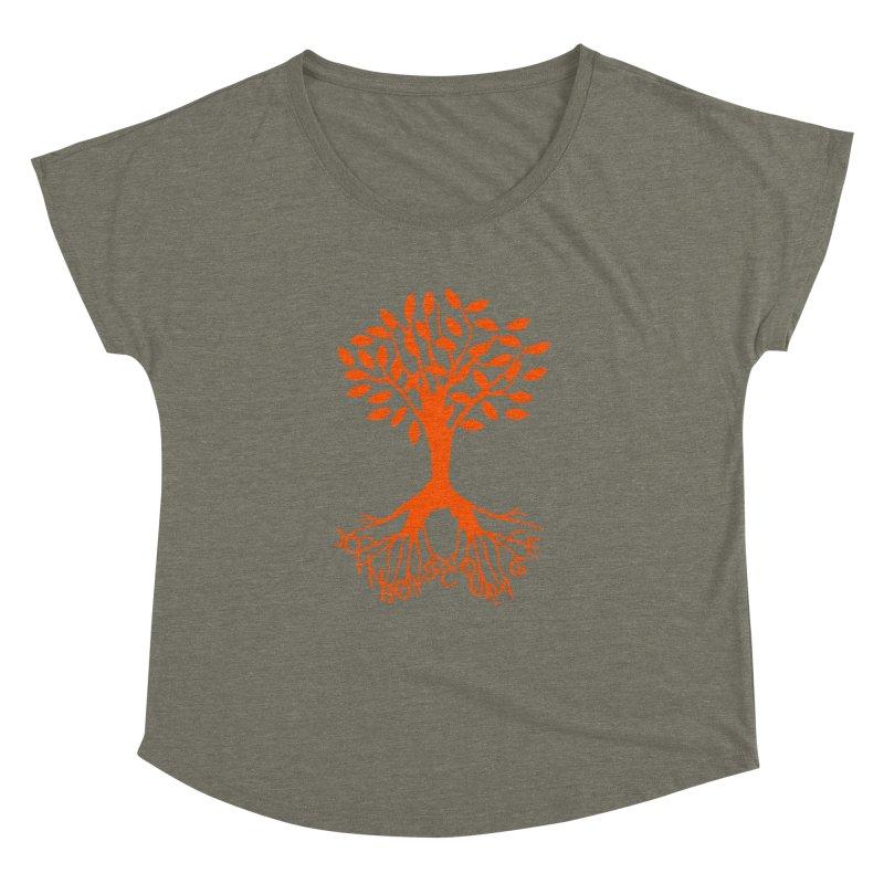 JBC Orange Tree Women's Dolman Scoop Neck by Todd Sarvies Band Apparel