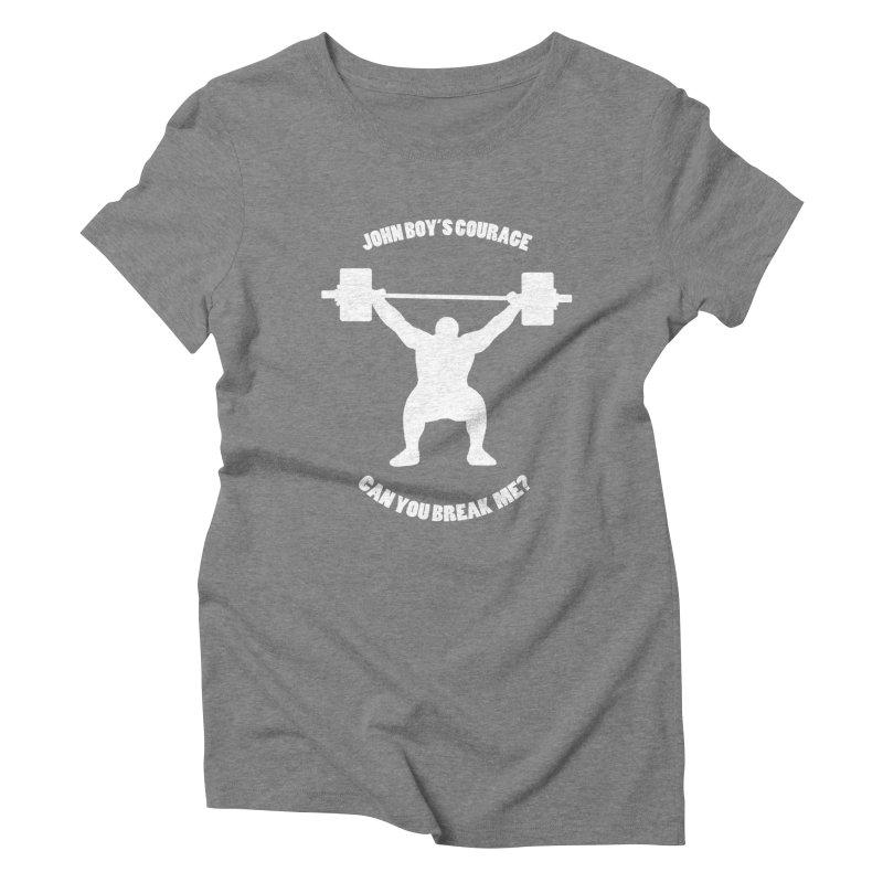 JBC Weight Lifter Women's Triblend T-Shirt by Todd Sarvies Band Apparel