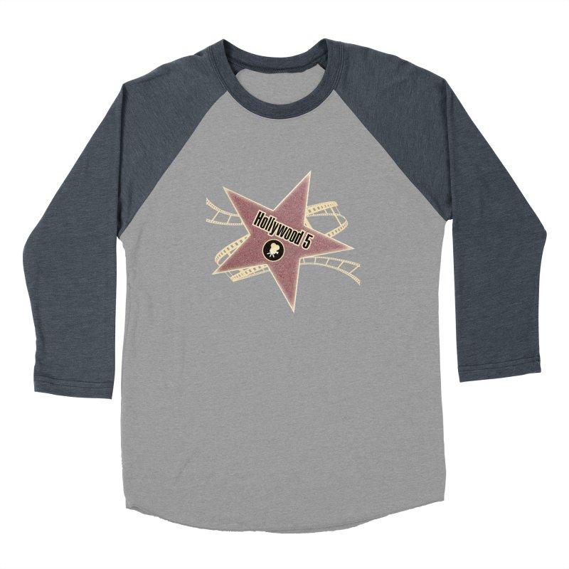Hollywood 5 Star Men's Baseball Triblend Longsleeve T-Shirt by TODD SARVIES BAND APPAREL