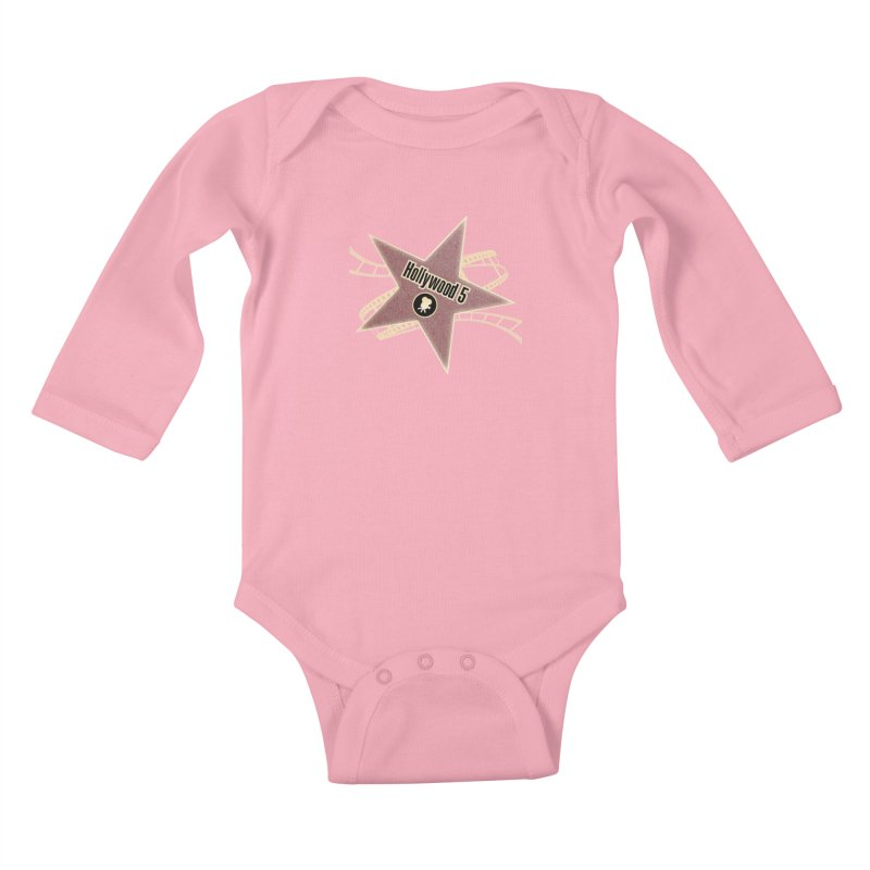 Hollywood 5 Star Kids Baby Longsleeve Bodysuit by Todd Sarvies Band Apparel