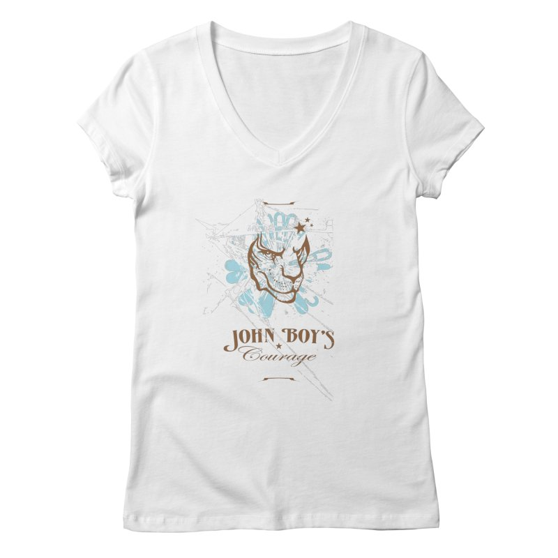 JBC Graphic Lion Women's V-Neck by Todd Sarvies Band Apparel