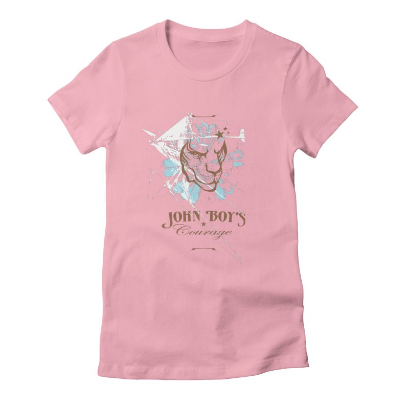 JBC Graphic Lion in Women's Fitted T-Shirt Light Pink by Todd Sarvies Band Apparel