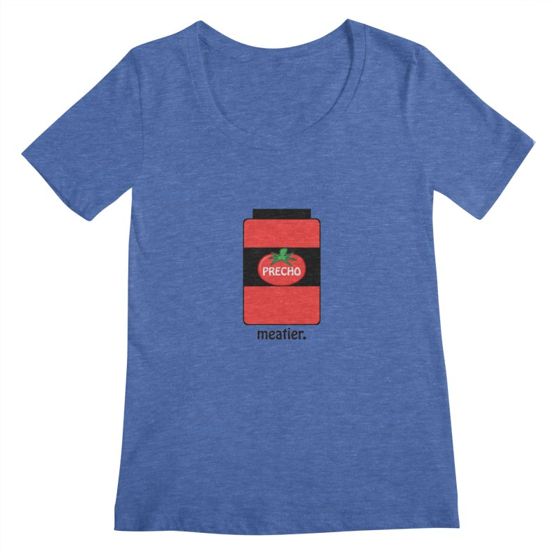 Precho Sauce Women's Scoopneck by Todd Sarvies Band Apparel
