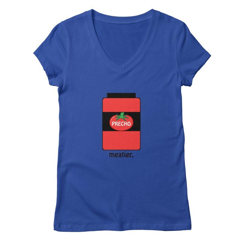 Precho Sauce Women's V-Neck by Todd Sarvies Band Apparel