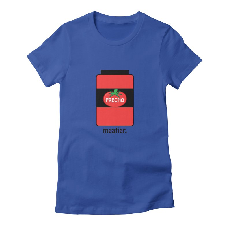 Precho Sauce Women's Fitted T-Shirt by Todd Sarvies Band Apparel