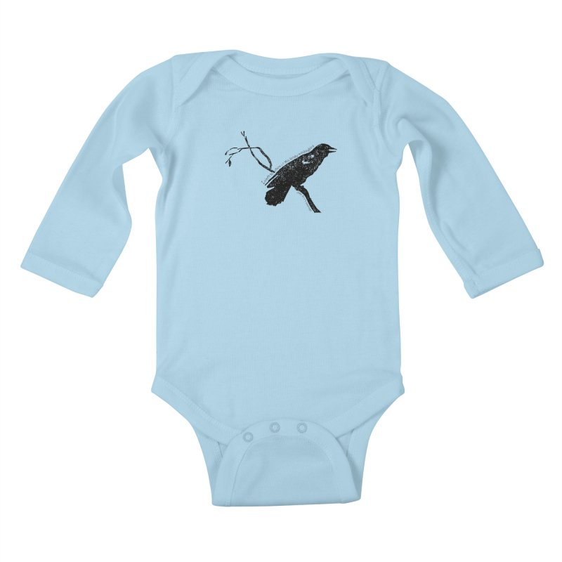 JBC Mocking Bird Kids Baby Longsleeve Bodysuit by Todd Sarvies Band Apparel