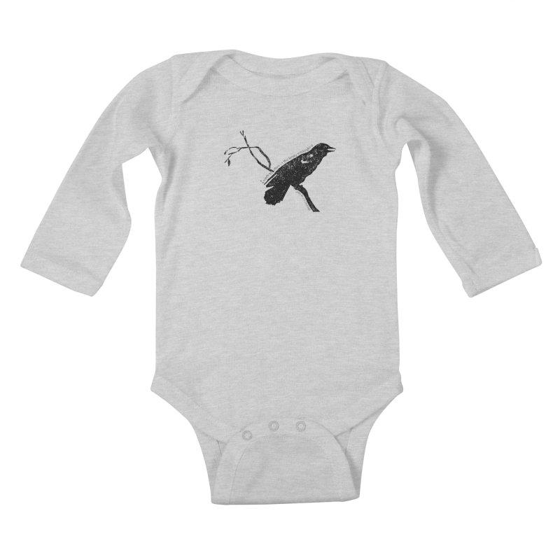 JBC Mocking Bird Kids Baby Longsleeve Bodysuit by Todd Sarvies Band Apparel