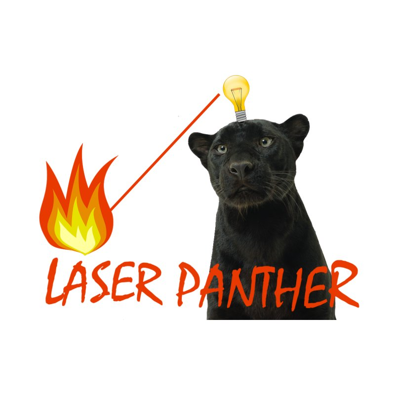 Laser Panther Women's Scoopneck by Todd Sarvies Band Apparel
