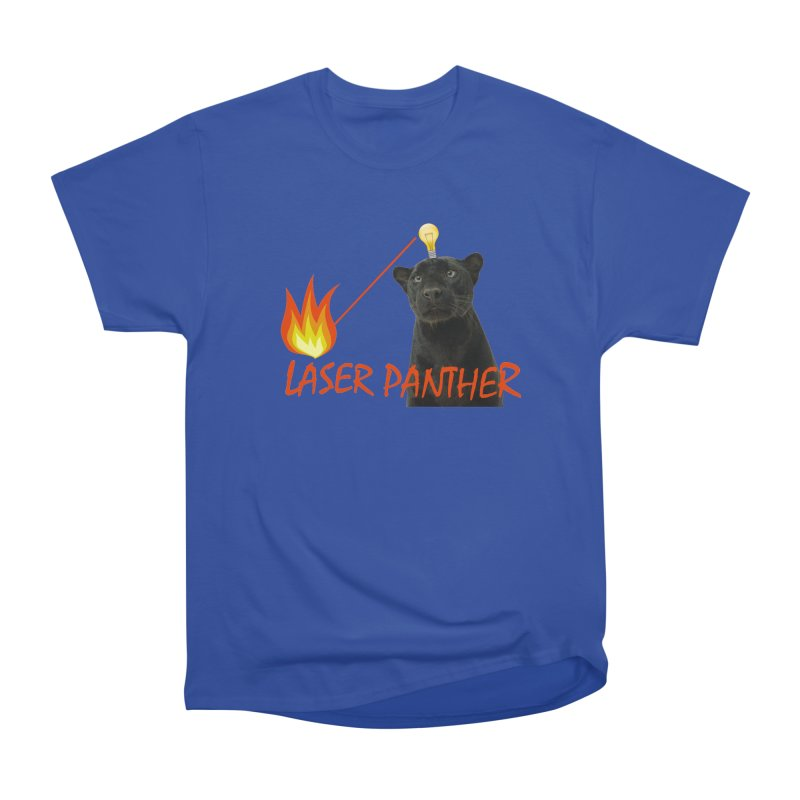 Laser Panther Women's Heavyweight Unisex T-Shirt by Todd Sarvies Band Apparel