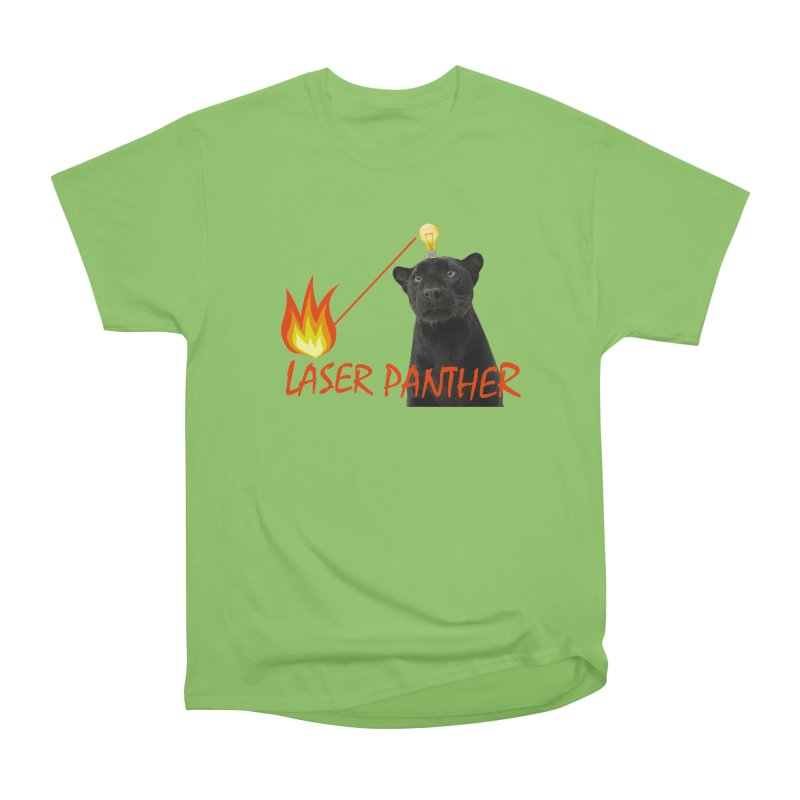 Laser Panther Men's Heavyweight T-Shirt by Todd Sarvies Band Apparel