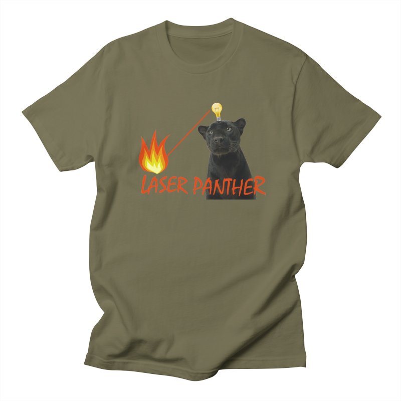 Laser Panther Women's Regular Unisex T-Shirt by Todd Sarvies Band Apparel