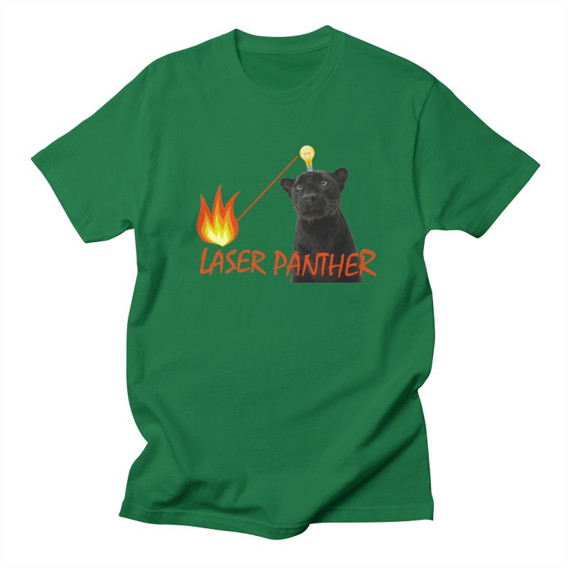 Laser Panther Men's Regular T-Shirt by Todd Sarvies Band Apparel