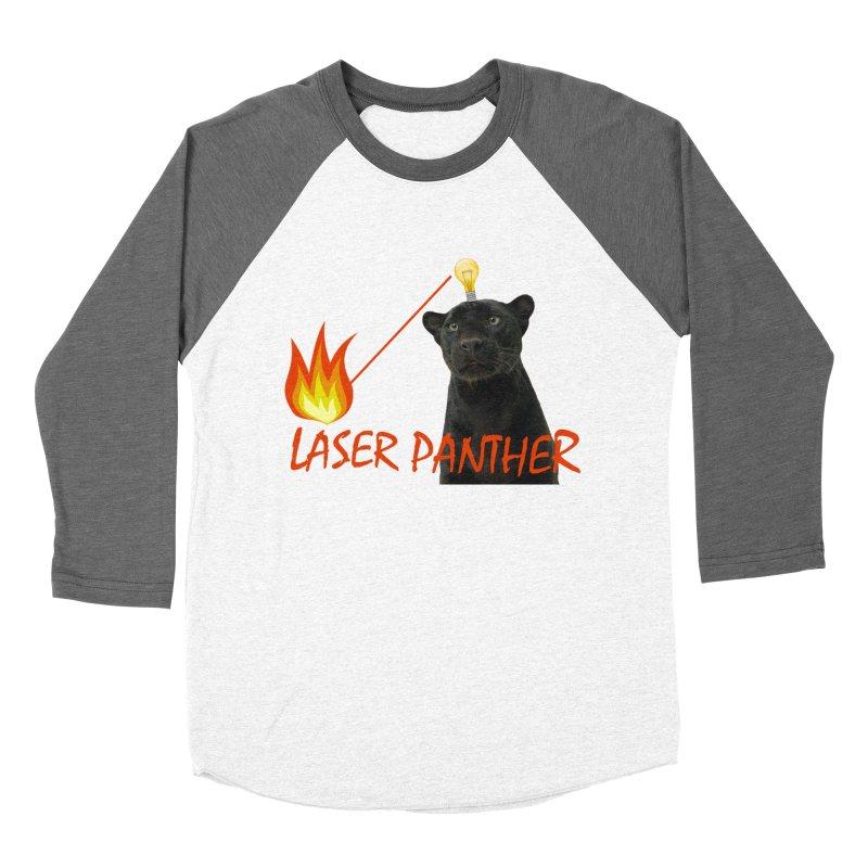 Laser Panther Women's Baseball Triblend Longsleeve T-Shirt by Todd Sarvies Band Apparel