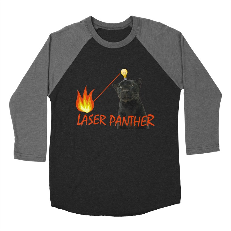 Laser Panther Women's Baseball Triblend T-Shirt by Todd Sarvies Band Apparel