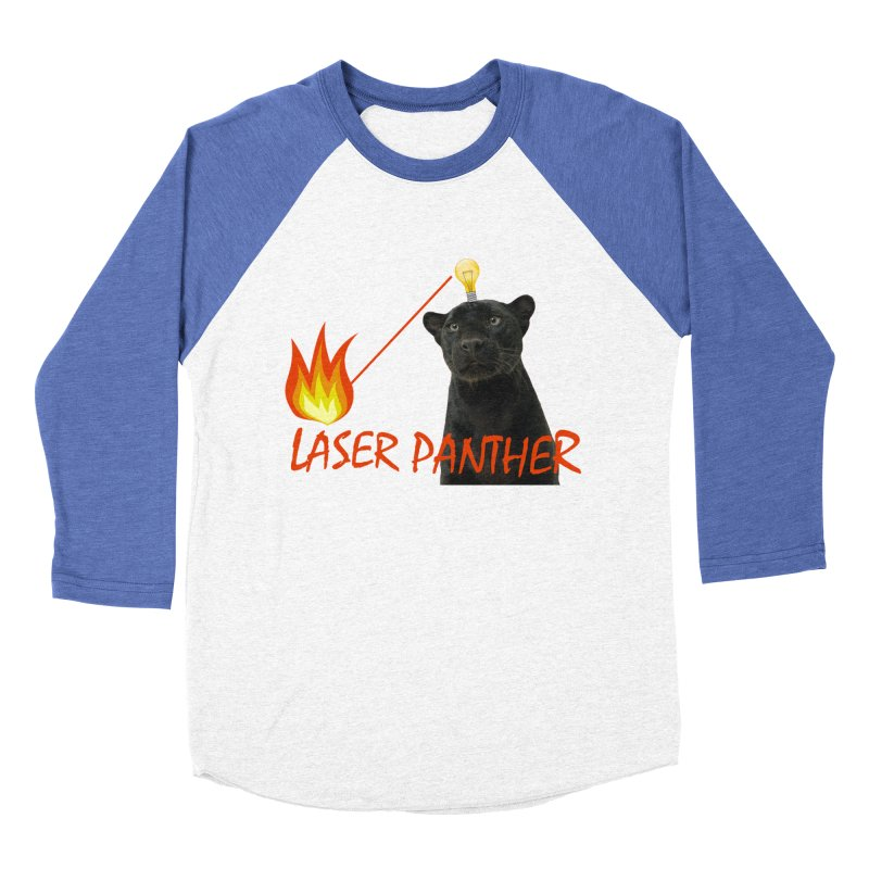 Laser Panther Men's Baseball Triblend T-Shirt by Todd Sarvies Band Apparel