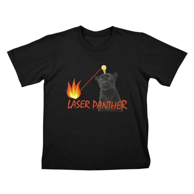 Laser Panther Kids T-Shirt by Todd Sarvies Band Apparel