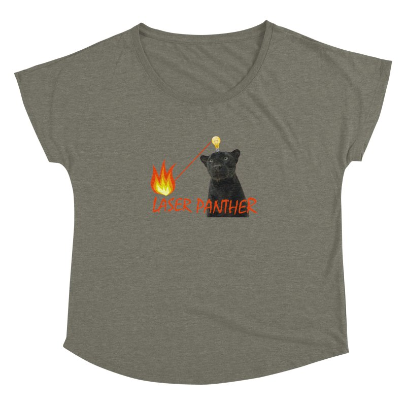 Laser Panther Women's Dolman Scoop Neck by Todd Sarvies Band Apparel