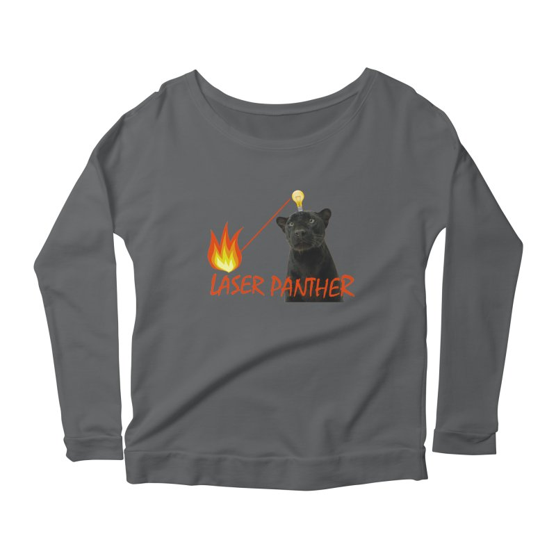 Laser Panther Women's Longsleeve Scoopneck  by Todd Sarvies Band Apparel