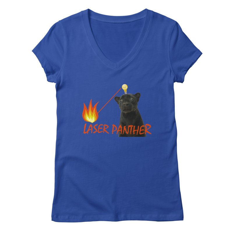 Laser Panther Women's Regular V-Neck by Todd Sarvies Band Apparel