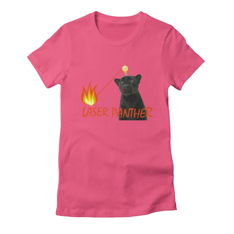 Laser Panther Women's Fitted T-Shirt by Todd Sarvies Band Apparel
