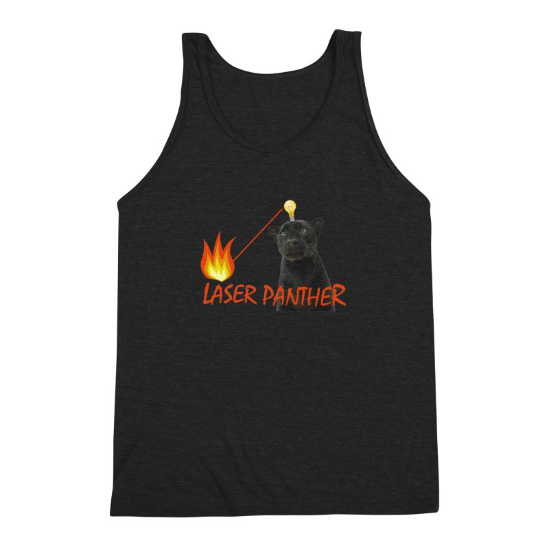 Laser Panther Men's Triblend Tank by Todd Sarvies Band Apparel