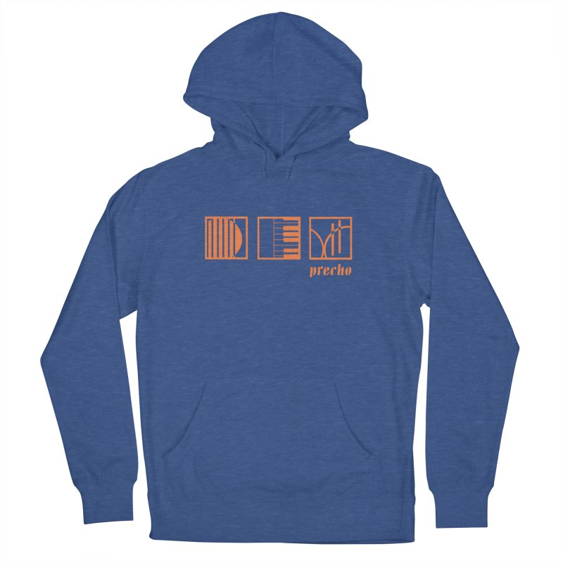 Precho Squares Logo Men's French Terry Pullover Hoody by Todd Sarvies Band Apparel