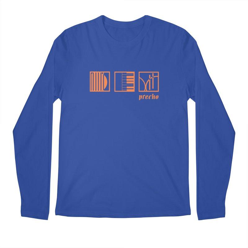 Precho Squares Logo Men's Regular Longsleeve T-Shirt by TODD SARVIES BAND APPAREL