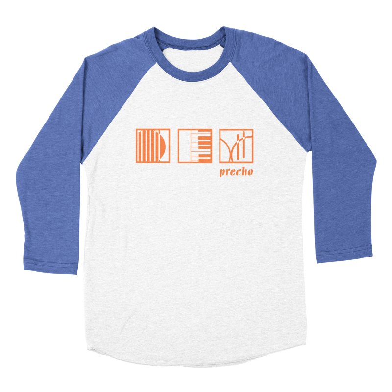 Precho Squares Logo Men's Baseball Triblend Longsleeve T-Shirt by TODD SARVIES BAND APPAREL