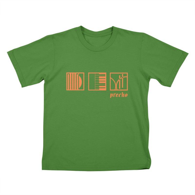 Precho Squares Logo Kids T-Shirt by Todd Sarvies Band Apparel