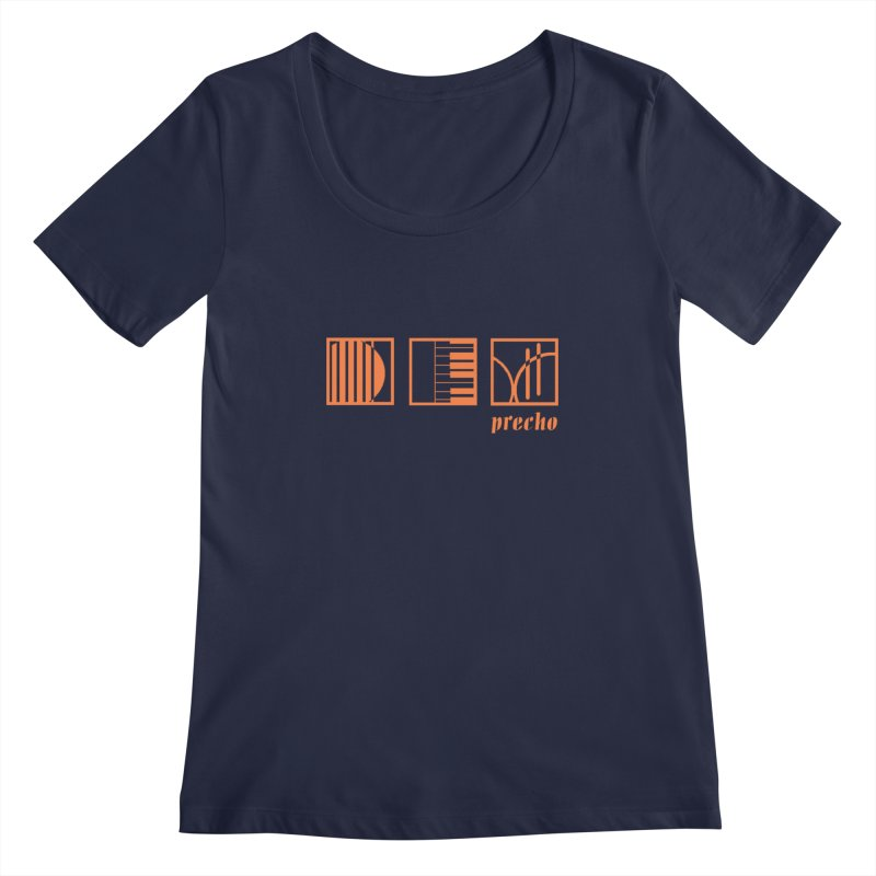 Precho Squares Logo Women's Scoopneck by Todd Sarvies Band Apparel