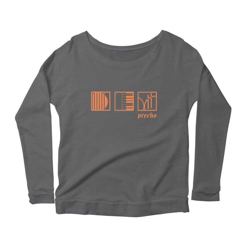 Precho Squares Logo Women's Scoop Neck Longsleeve T-Shirt by Todd Sarvies Band Apparel