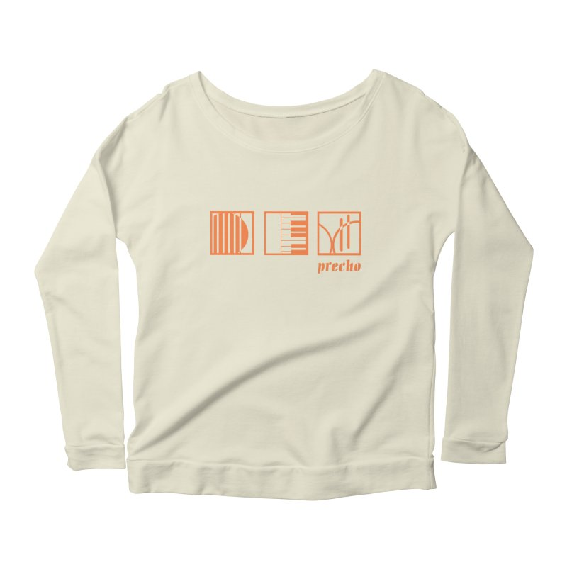 Precho Squares Logo Women's Longsleeve Scoopneck  by Todd Sarvies Band Apparel