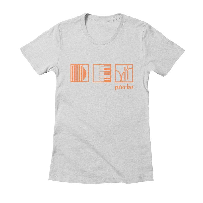 Precho Squares Logo Women's Fitted T-Shirt by Todd Sarvies Band Apparel