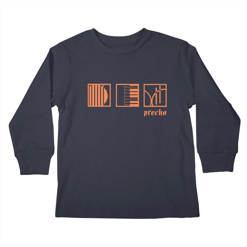 Precho Squares Logo Kids Longsleeve T-Shirt by Todd Sarvies Band Apparel