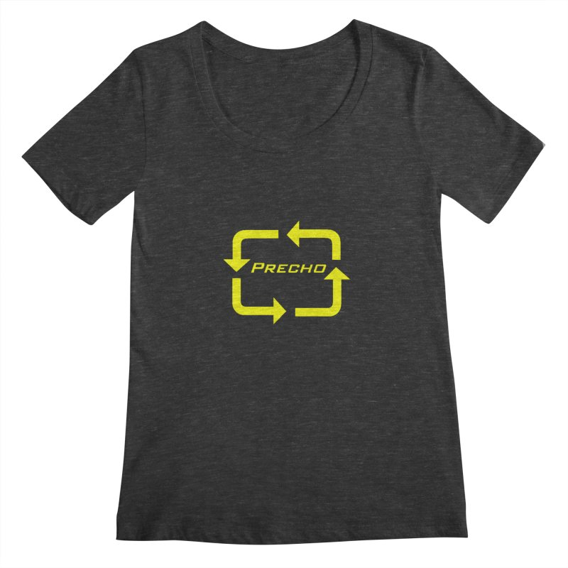 Precho Arrow Logo Women's Regular Scoop Neck by Todd Sarvies Band Apparel