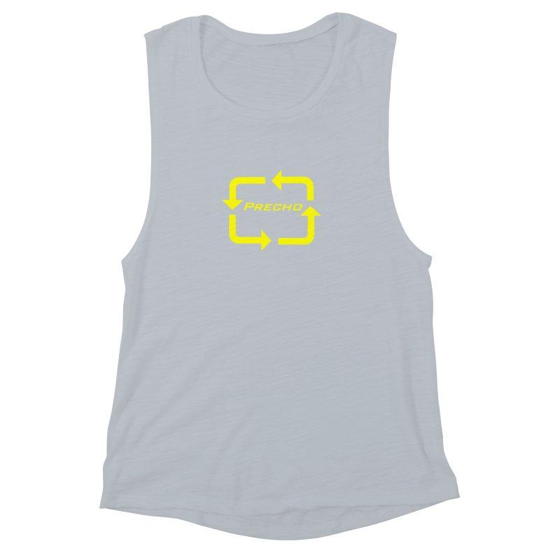 Precho Arrow Logo Women's Muscle Tank by Todd Sarvies Band Apparel