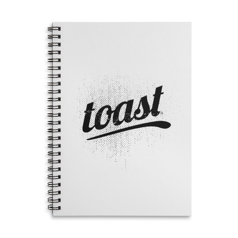 Toast Logo Brand Accessories Lined Spiral Notebook by toast designs