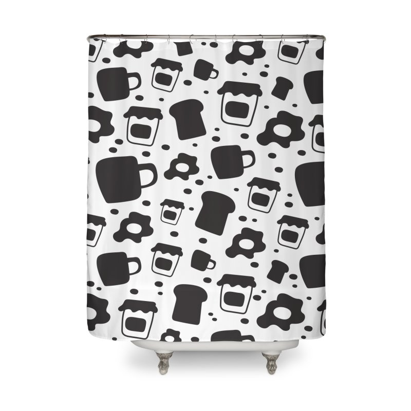 Breaky Time Home Shower Curtain by toast designs