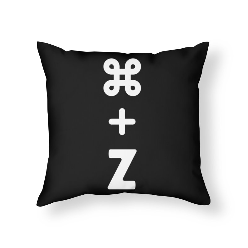 Undo in Throw Pillow by toast designs
