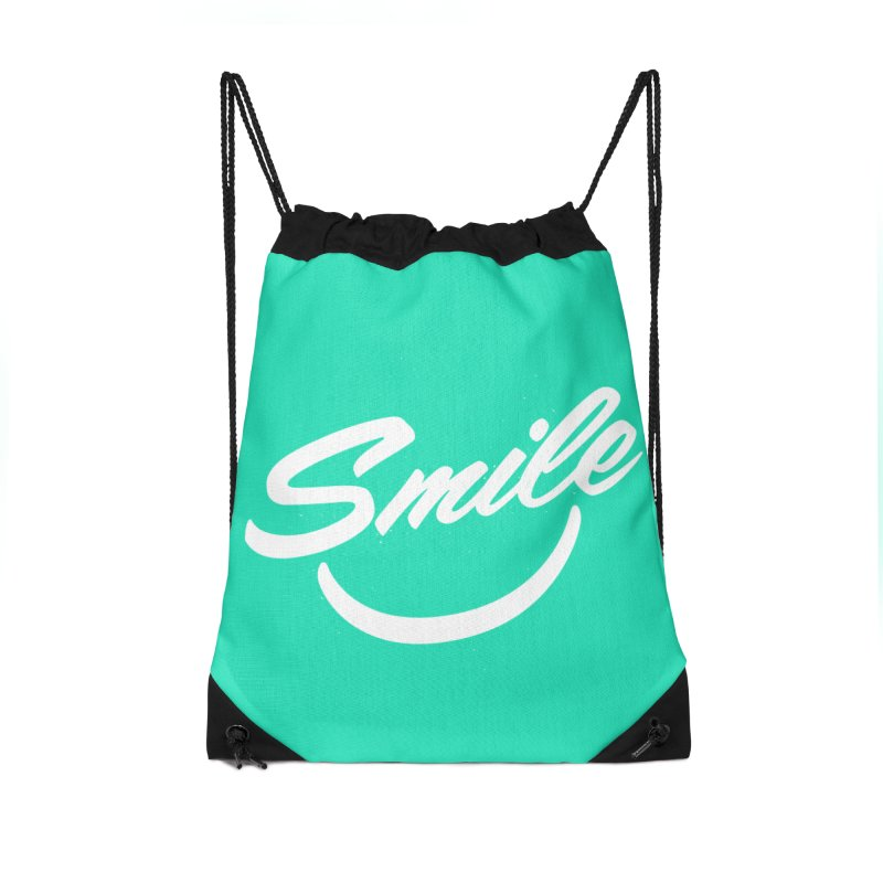 Smile Accessories Drawstring Bag Bag by toast designs