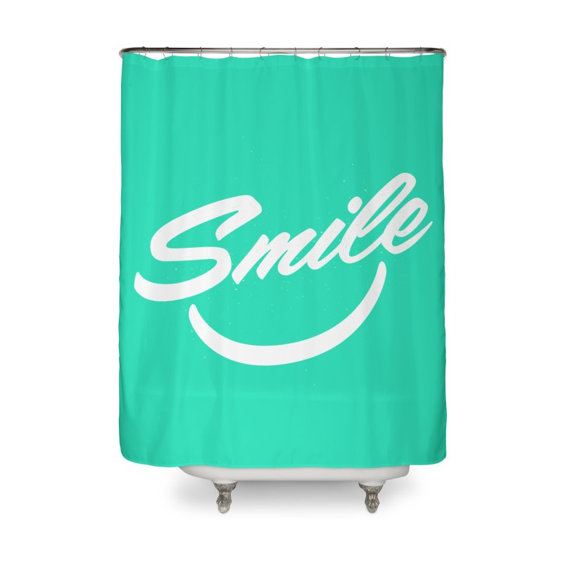 Smile Home Shower Curtain by toast designs