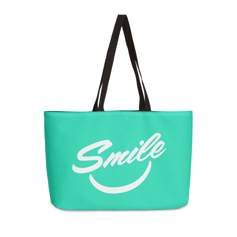 Smile Accessories Weekender Bag Bag by toast designs