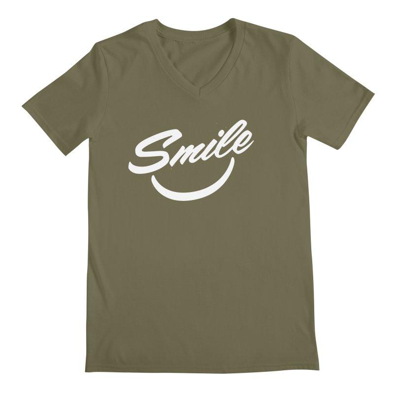 Smile Men's V-Neck by toast designs