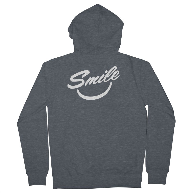 Smile Men's French Terry Zip-Up Hoody by toast designs