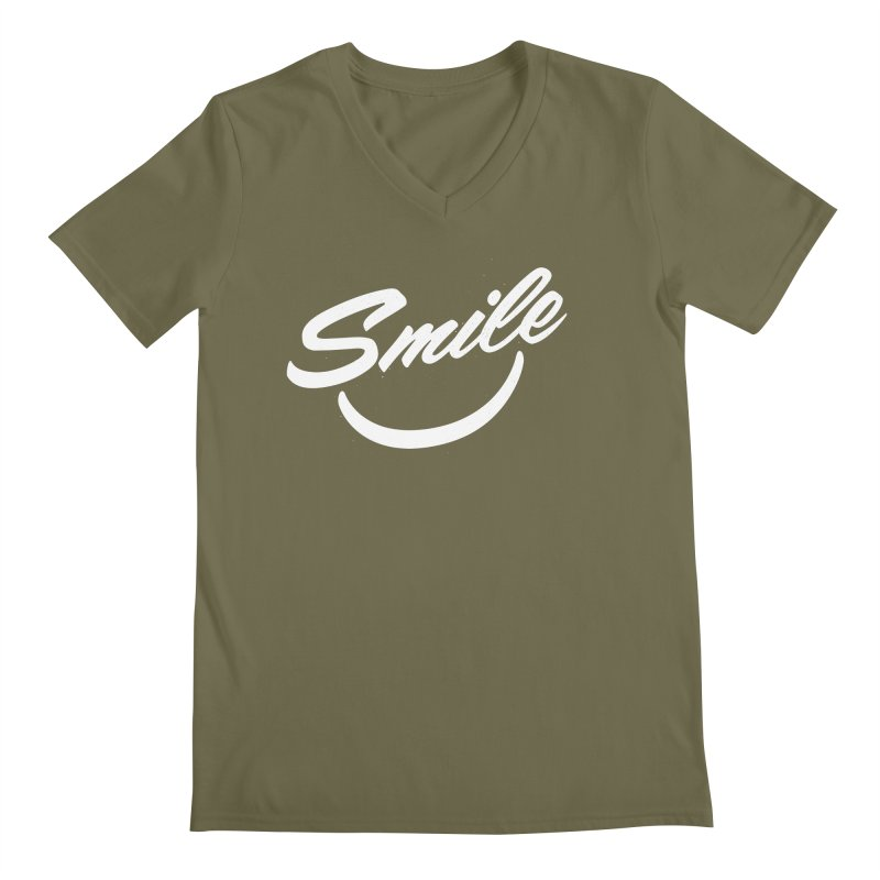 Smile Men's Regular V-Neck by toast designs