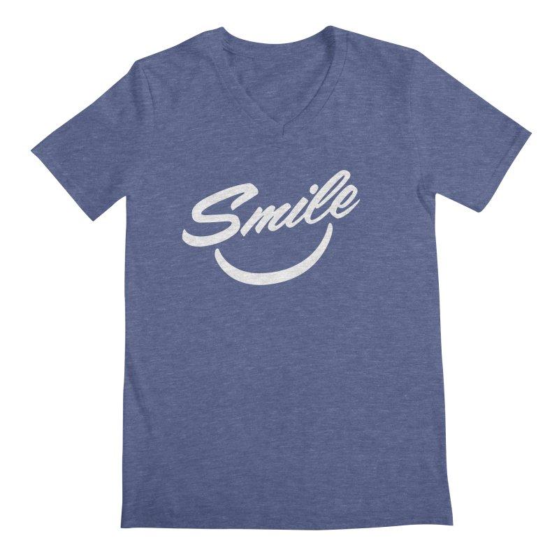 Smile Men's Regular V-Neck by toast designs